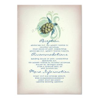 Tarjeta Huésped de la información del boda de la tortuga