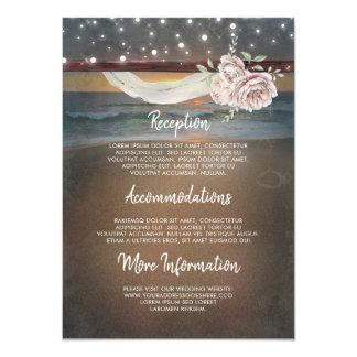 Tarjeta Huésped de la información del boda del paisaje de