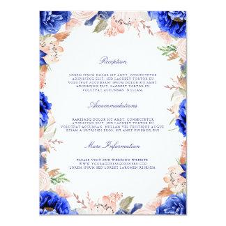 Tarjeta Huésped floral de la información de la marina de