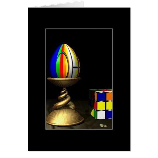 Tarjeta Huevo colorido