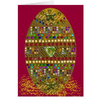Tarjeta Huevo de Pascua Jeweled
