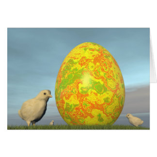 Tarjeta Huevos coloridos para pascua - 3D rinden