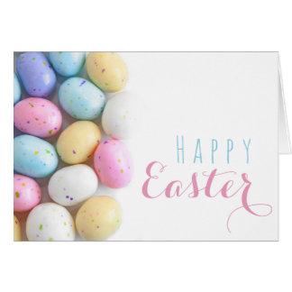 Tarjeta Huevos manchados Pascua