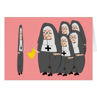 """Tarjeta Humor católico """"hermanas gordas """" de la monja"""