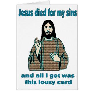 Tarjeta Humor de Jesús
