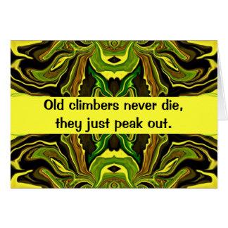Tarjeta humor de los escaladores