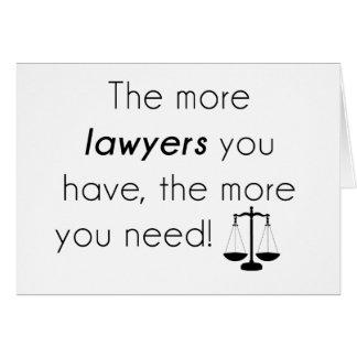 Tarjeta Humor del abogado