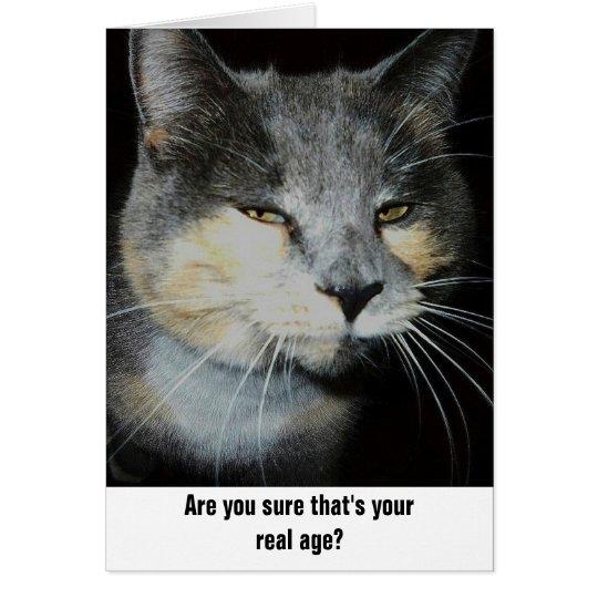 Tarjeta Humor del gato del cumpleaños