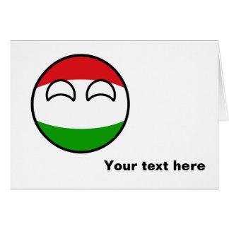 Tarjeta Hungría Geeky que tiende divertida Countryball