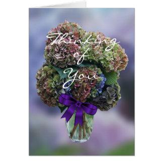 Tarjeta Hydrangea 2385 en personalizar del florero