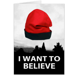 Tarjeta I want to believe - Barretina
