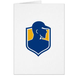 Tarjeta Icono del escudo del trabajador industrial