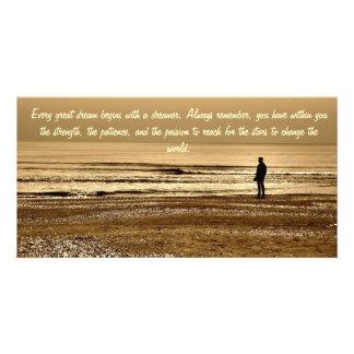 Tarjeta ideal de la foto tarjeta fotográfica personalizada