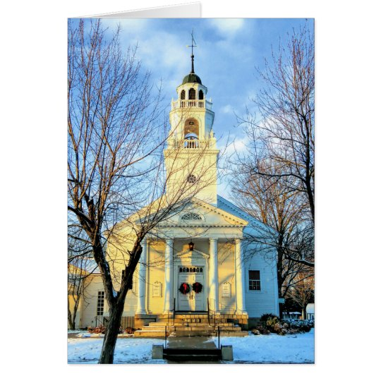 Tarjeta Iglesia congregacional Hollis NH