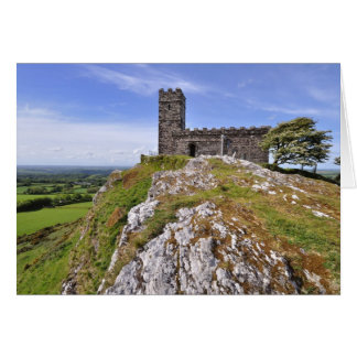 Tarjeta Iglesia de Brentor, parque nacional de Dartmoor,