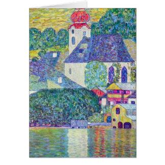 Tarjeta Iglesia del St Wolfgang por Klimt