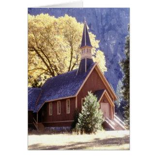 Tarjeta Iglesia en el parque nacional de Yosemite
