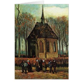 Tarjeta Iglesia reformada en Nuenen, bella arte de Van