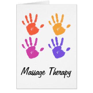 Tarjeta II de la terapia del masaje