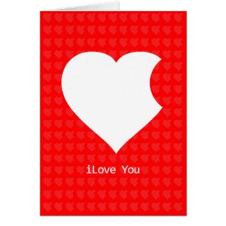 Tarjeta iLove que usted carda (el rojo)