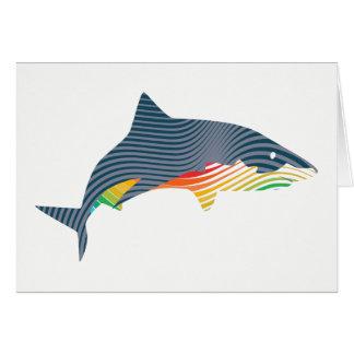 Tarjeta Ilustracion de Swoosh del tiburón