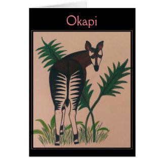 Tarjeta Ilustracion del Okapi