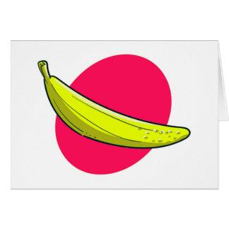 Tarjeta ilustracion del plátano del estilo del dibujo