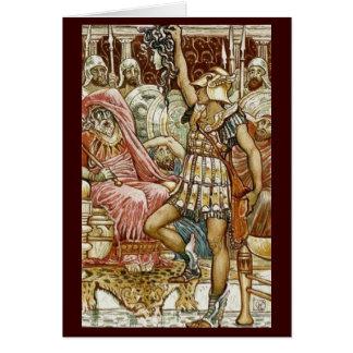 Tarjeta Imagen del vintage - Perseus que entrega la cabeza