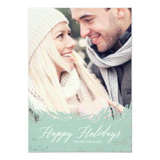 Tarjeta imperecedera de la foto del navidad de invitación 12,7 x 17,8 cm