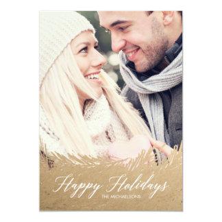 Tarjeta imperecedera de la foto del navidad del invitación 12,7 x 17,8 cm