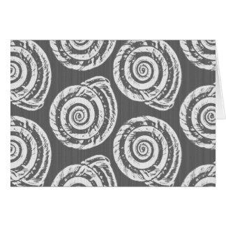 Tarjeta Impresión de bloque del Seashell, gris