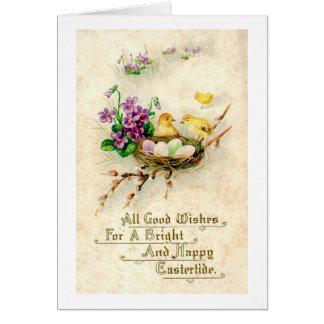 Tarjeta Impresión de Pascua del vintage