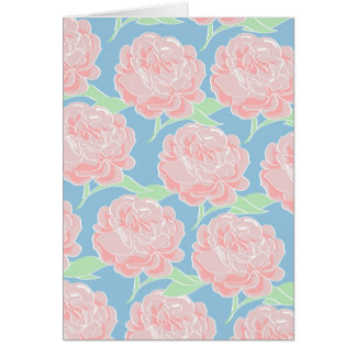 Tarjeta Impresión floral femenina bonita del rosa en
