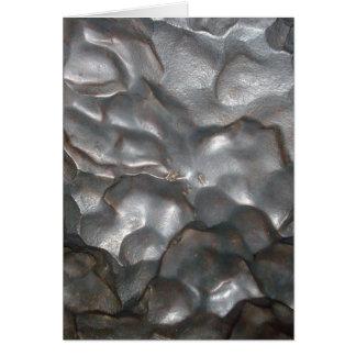Tarjeta Impresión metálica de la roca del meteorito,