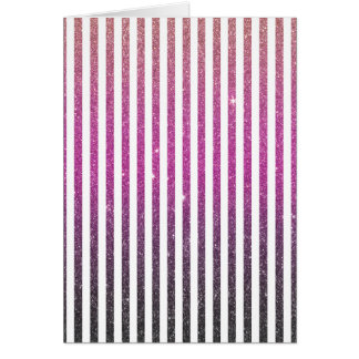Tarjeta Impresión rosada femenina de la foto del brillo de