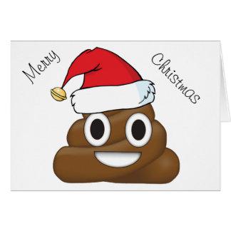 Tarjeta Impulso hilarante Emoji de Navidad