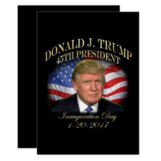 Tarjeta Inauguración de presidente Donald Trump