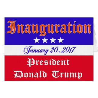 Tarjeta Inauguración Donald Trump 20 de enero de 2017