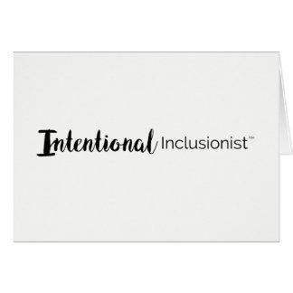 Tarjeta Inclusionist intencional le agradece cardar