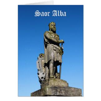 Tarjeta Independencia escocesa Roberto el monumento de