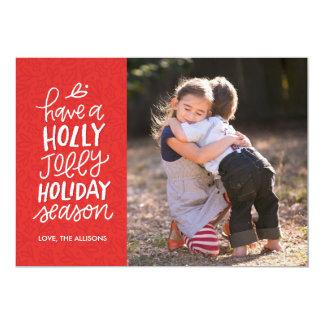 Tarjeta indicada con letras de la foto del navidad