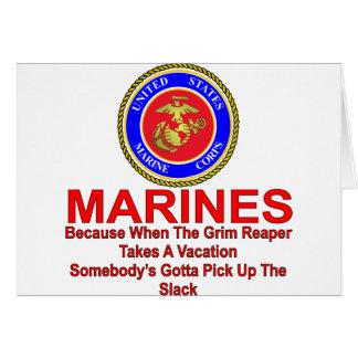 Tarjeta Infantes de marina porque cuando el segador tarda