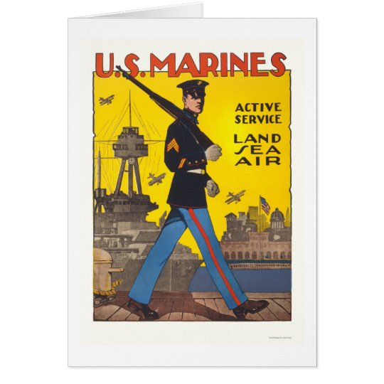 Tarjeta Infantes de marina - servicio activo - tierra,
