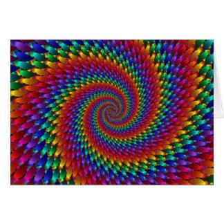 Tarjeta Infinito del fractal del espiral del arco iris del