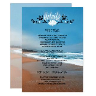 Tarjeta Información de detalles del boda de playa - parte