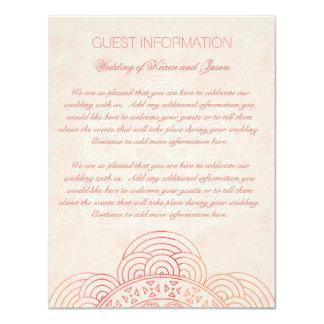Tarjeta Información elegante de la huésped del boda de