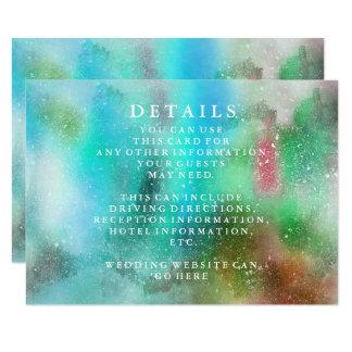 Tarjeta Información elegante moderna del boda de la