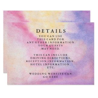 Tarjeta Información verde elegante moderna del boda de la
