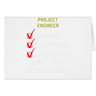 Tarjeta ingeniero del proyecto