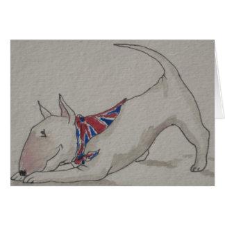 Tarjeta Inglés bull terrier - hogar agradable